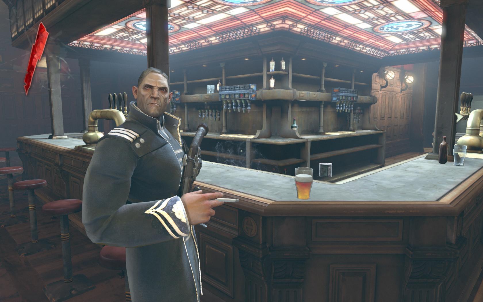 Test Dishonored: Nichts zu motzen beim Meucheln - Einer der Rebellen in unserer Basis, einem alten Pub