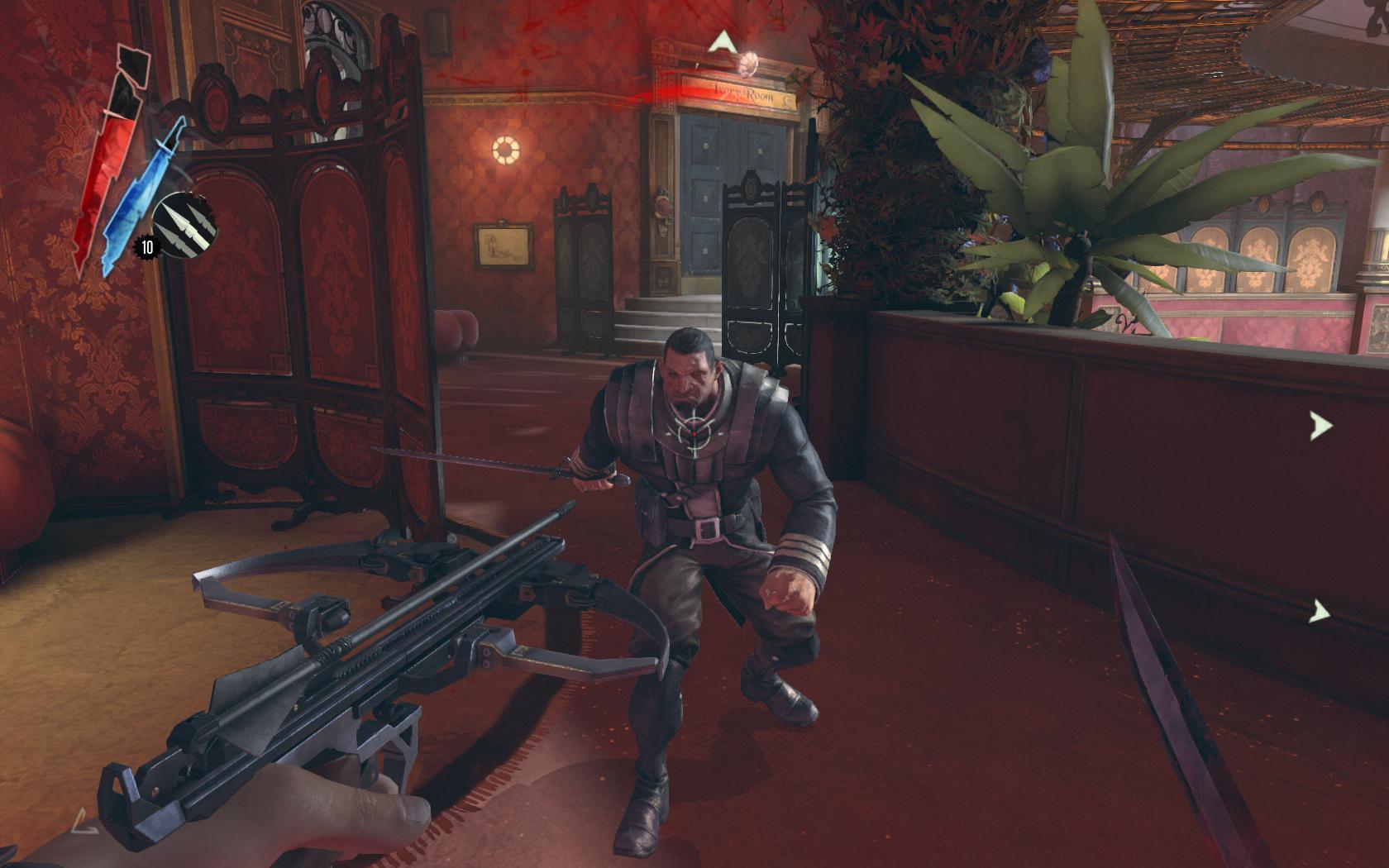 Test Dishonored: Nichts zu motzen beim Meucheln - An einigen Stellen wie hier tauchen Wachen auch mal scheinbar aus dem Nichts auf.