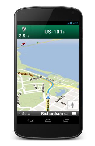 Google Maps auf dem Nexus 4 (Quelle: Google)