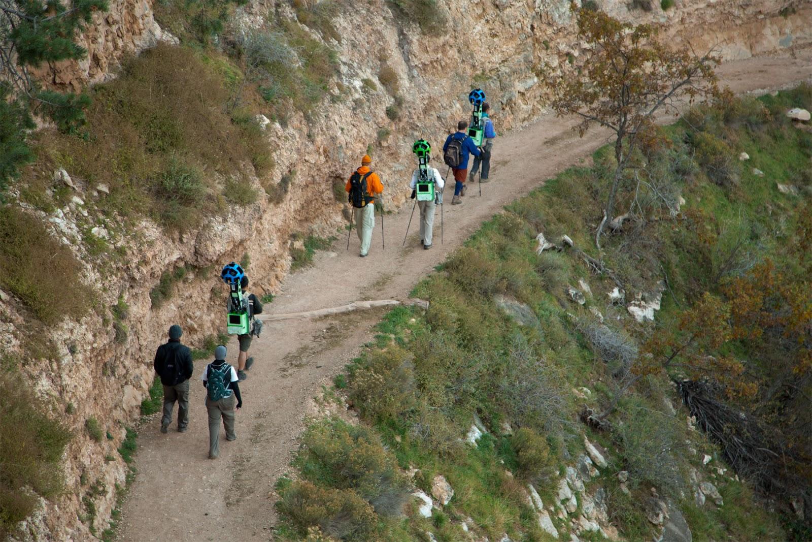Rucksackfotografie: Google durchwandert den Grand Canyon für Street View -