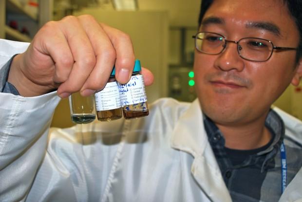 IBM-Forscher Hongsik Park mit unterschiedlichen Lösungen mit Kohlenstoff-Nanoröhren