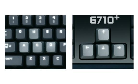 Logitech G710+ mit beleuchteten  Tastenbeschriftungen (Bild: Logitech)