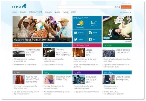 MSN im Metro-Stil von Windows 8
