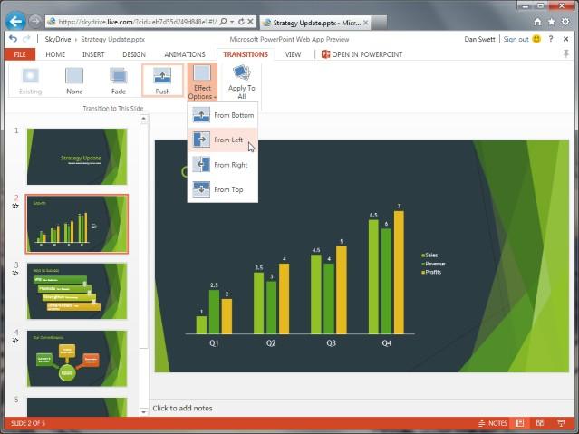 Office im Browser: Microsoft stellt neue Version der Office Web Apps bereit - Powerpoint Web App