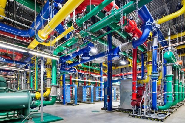 Google Rechenzentren spannende Blicke