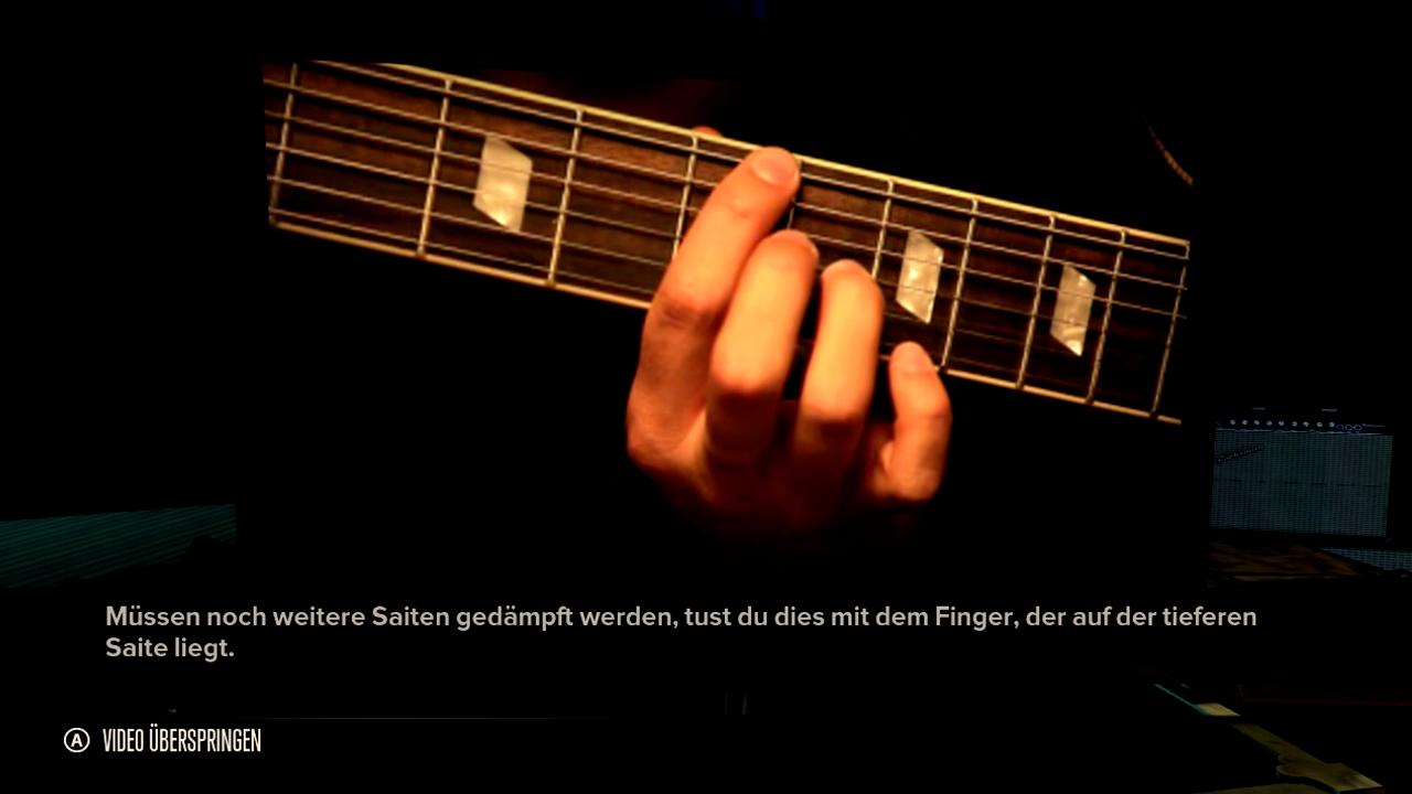 Test Rocksmith: Gitarrenlehrer Gnadenlos - Nur selten bieten die Lernvideos eine so klar erkennbare Detailansicht.
