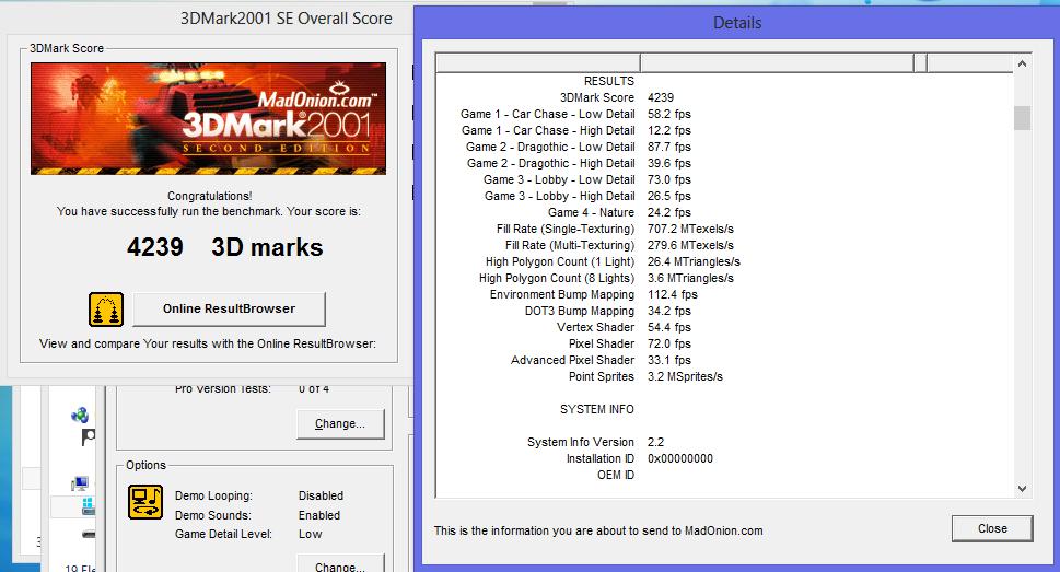 Samsung Ativ Smart PC im Test: Windows 8 und Atom im Tablet - das Beste aus beiden Welten? - Einzelgergebnisse des 3DMark2001