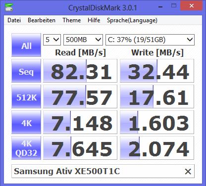 Die SSD im Smart PC ist lahm