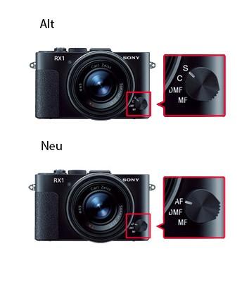 Sony Cybershot DSC-RX1: alt gegen neu (Bild: Sony)