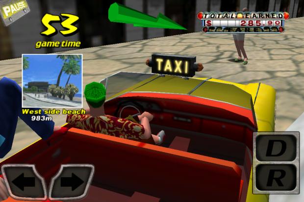 Crazy Taxi mit 960 x 640 Pixeln auf dem iPhone
