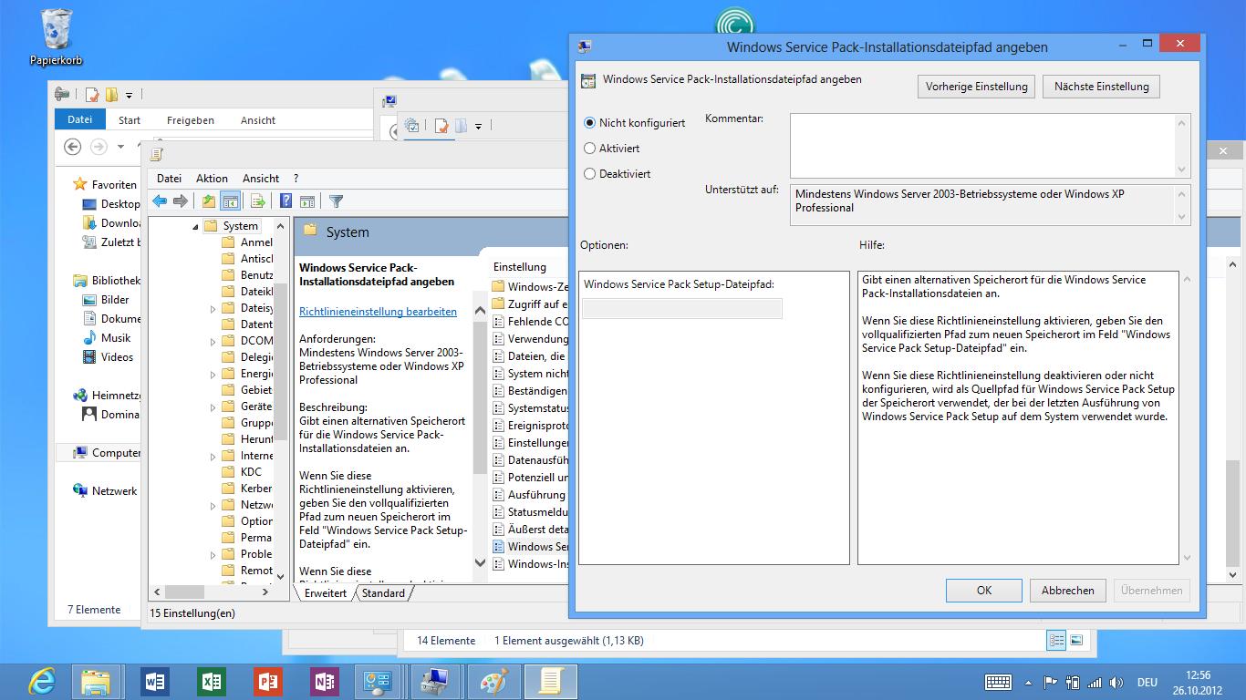 Asus Vivo Tab RT im Test: Gutes ARM-Tablet mit stromsparendem Windows RT - Group Policy Editor