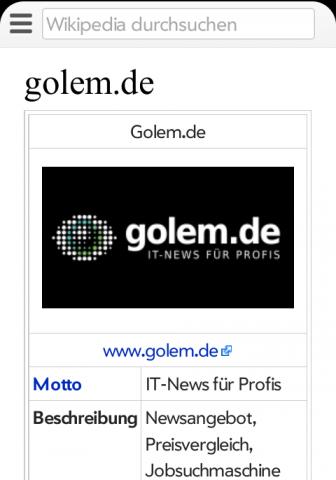 Neues Design der mobilen Wikipedia-Webseite