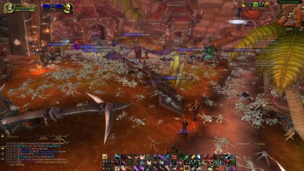 Mehr Skelette als lebende Charaktere in World of Warcraft (Screenshot: Tilix@Twisting Nether:EU)