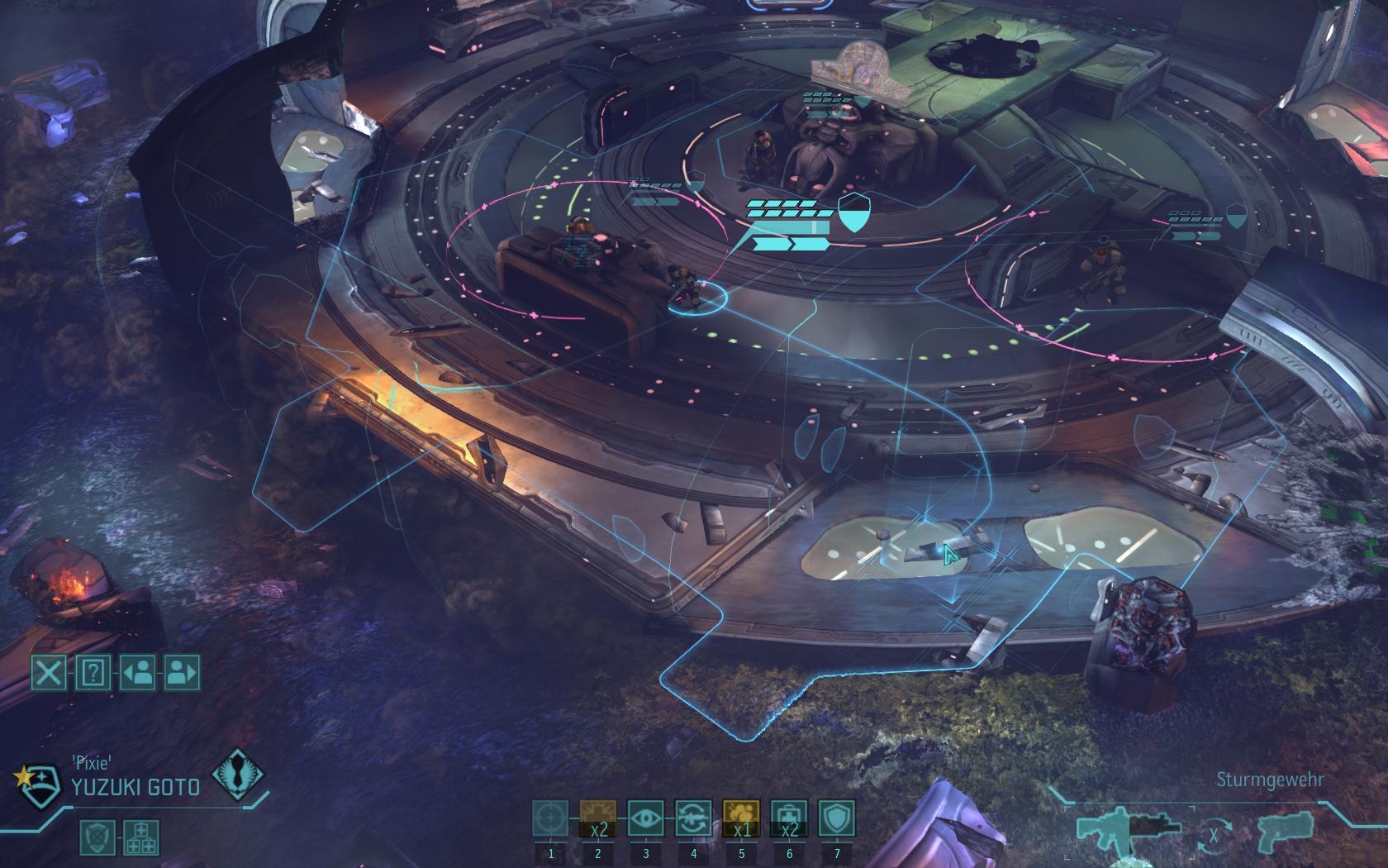 Test-Video Xcom Enemy Unknown: Außerirdisch gute Rundentaktik - Unser Trupp erkundet das Ufo von innen...
