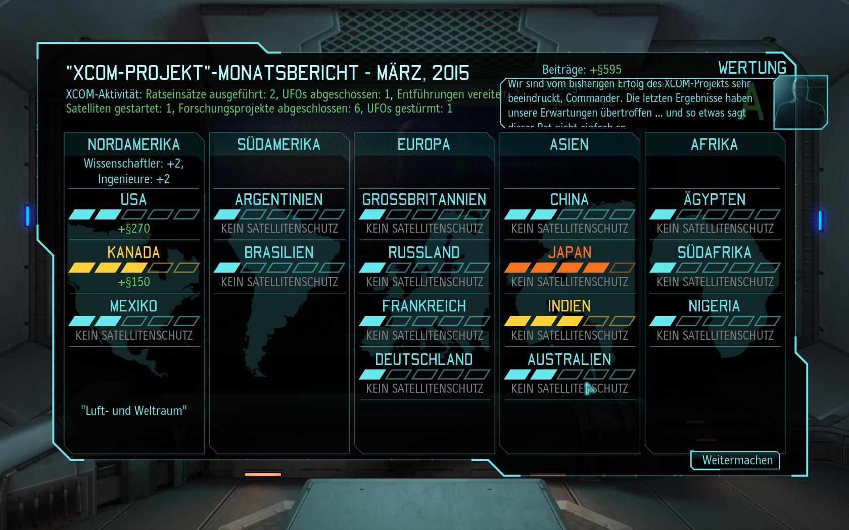 Test-Video Xcom Enemy Unknown: Außerirdisch gute Rundentaktik - Noch ist alles in Ordnung, aber Japan steht kurz vor dem Absprung aus der Xcom: der Monatsbericht.