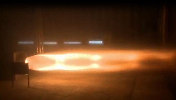 Die Rakete brannte 10 Sekunden lang. Der Test sei zufriedenstellend verlaufen, erklärten die Verantwortlichen. (Foto: Bloodhound SSC)