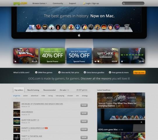 Gog.com - nun auch mit Spieleklassikern und neueren Titeln für den Mac (Screenshot: Golem.de)