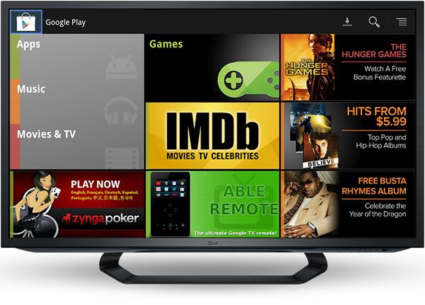 Google Play für Google TV bietet in Kürze auch Filme, TV-Serien und Musik zum Download. (Bild: Google)
