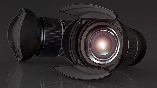 Hoocap: Aus dem Objektivdeckel wird eine Sonnenblende. (Foto: Hoocap)