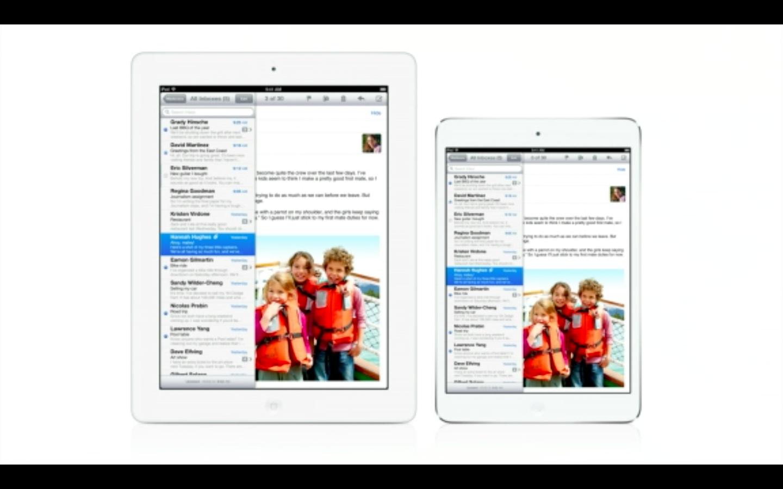Apple: Verwirrung um Stereolautsprecher beim iPad Mini - iPad 4 und iPad Mini (r.) (Bild: Apple)