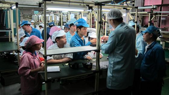 Pebble: Röntgenblick in die Smartwatch - Pebble - Testfertigungsstrecke beim Fabrikationspartner in Taiwan (Bild: Pebble Technology)
