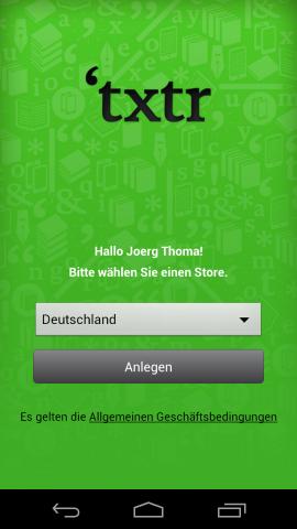Eine Applikation für die Übertragung von E-Books auf den Txtr Beagle gibt es bislang nur für Android.