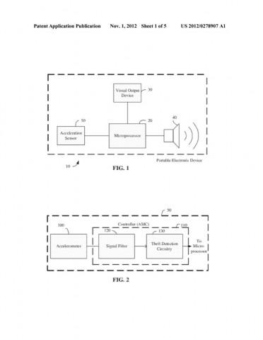 Patentantrag 20120278907 - Schema der iOS-Alarmanlage (Bild: US-Patent- und Markenamt)