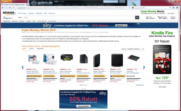 Nach weniger als zwei Minuten war die SSD ausverkauft. (Screenshot: Golem.de)