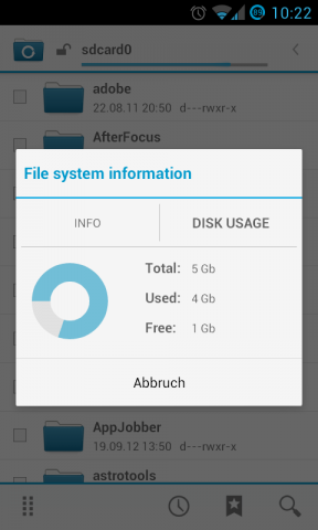 Der CM File Manager (Screenshot: Golem.de)