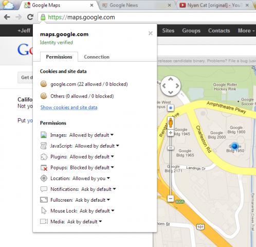 Website-Berechtigungen einfach verwalten in Chrome 23