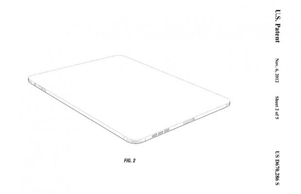 US-Designpatent D670,286 zeigt die abgerundeten Ecken des iPad 1. (Bild: US-Patent- und Markenamt)