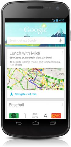Google Now ist ein persönlicher Assistent von Google. (Bild: Google)