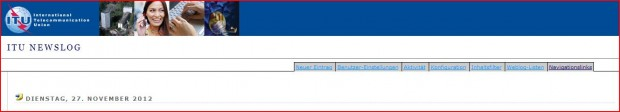 Der Admin-Zugang zum ITU-Weblog (Screenshot: Golem.de)