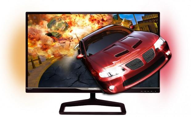 Philips Gioco 278G4 3D - mit 27-Zoll-IPS-Panel, Polfilterbrille für 3D und Ambiglow für Lichteffekte (Bild: Philips)