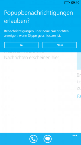Skype-Vorabversion für Windows Phone 8.