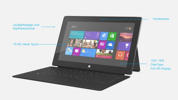Microsofts Tablet Surface Pro mit Windows 8
