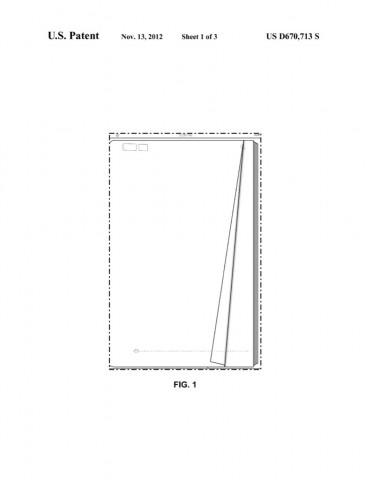Animation beim Seitenblättern - US-Designpatent US0D0670713 (Bild: US-Patent-  und Markenamt)