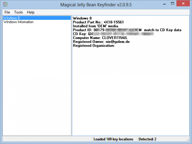 "Hinter ""CD Key"" befindet sich der Product Key des Samsung Smart PC. (Screenshot: Golem.de)"