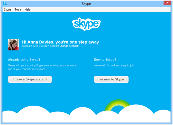 Microsoft: Windows Live Messenger wird mit Skype zwangsvereinigt -  Skype - Anmeldung (Bild: Microsoft)