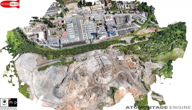Atomontage - eine Vektor-Luftaufnahme in Voxel gewandelt (Bild: Branislav Siles)