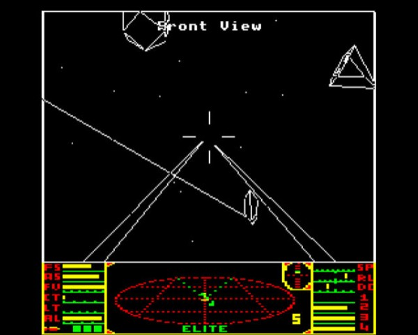 Elite - Screenshot aus der  Urversion für den BBC Micro (Bild: Frontier Developments)