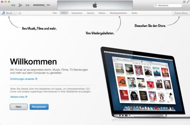 Einführung in iTunes 11 (Bild: Apple)