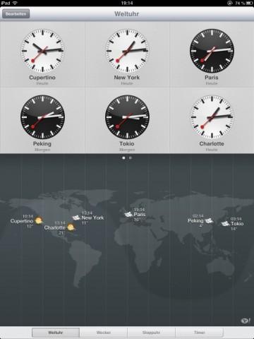 Die Uhren von iOS 6 haben der SBB viel Geld eingebracht (Screenshot: Golem.de)