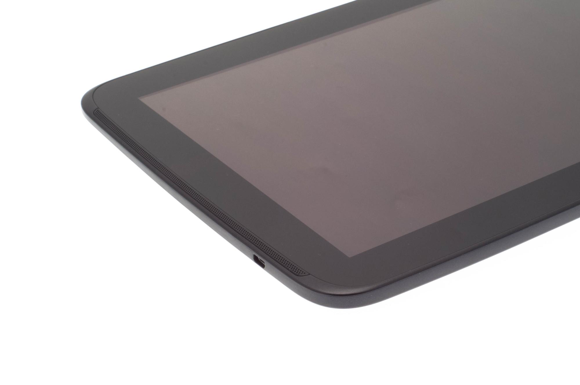 Nexus 10 im Test: Das Tablet, das zeigt, was Android kann - Das Tablet hat einen Micro-HDMI-Ausgang. Die Lautsprecher sind an beiden Seiten verbaut. (Bild: Nina Sebayang)
