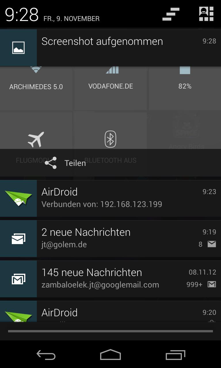 Nexus 4 im Test: Schickes Smartphone, schwacher Akku -