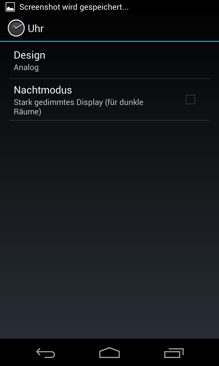 Nexus 4 im Test: Schickes Smartphone, schwacher Akku - ...lassen sich verschiedene... (Screenshot: Golem.de)