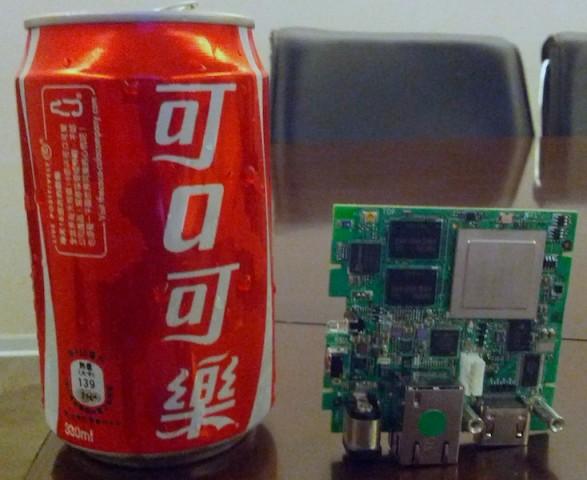 Ouya - kompakte und laut Hersteller funktionsfähige Entwicklungsplatine der Spielekonsole (Bild: Ouya)