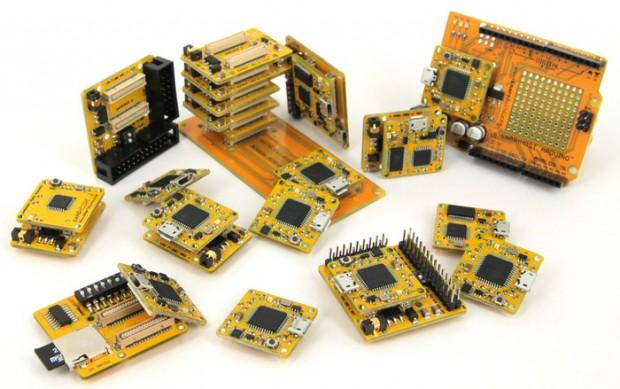 Einige der Platinen des Smartduino-Projekts