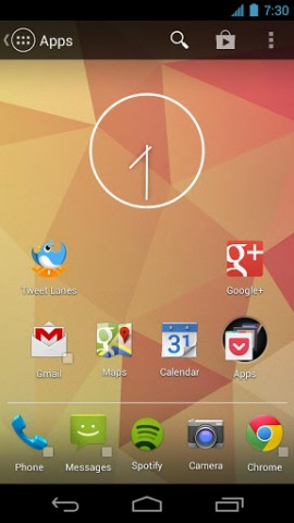 Der Action Launcher für Android (Bild: Chris Lacy/Google Play Store)
