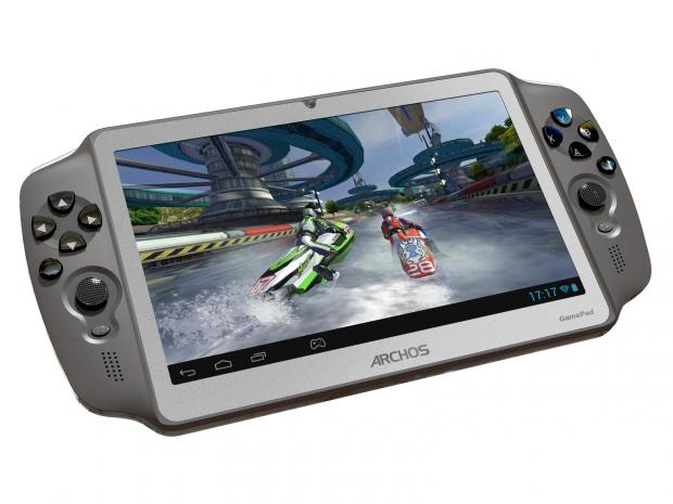 Auf dem Archos Gamepad können Android-Spiele mit Hilfe analoger Steuerelemente gespielt werden. (Bild: Archos)